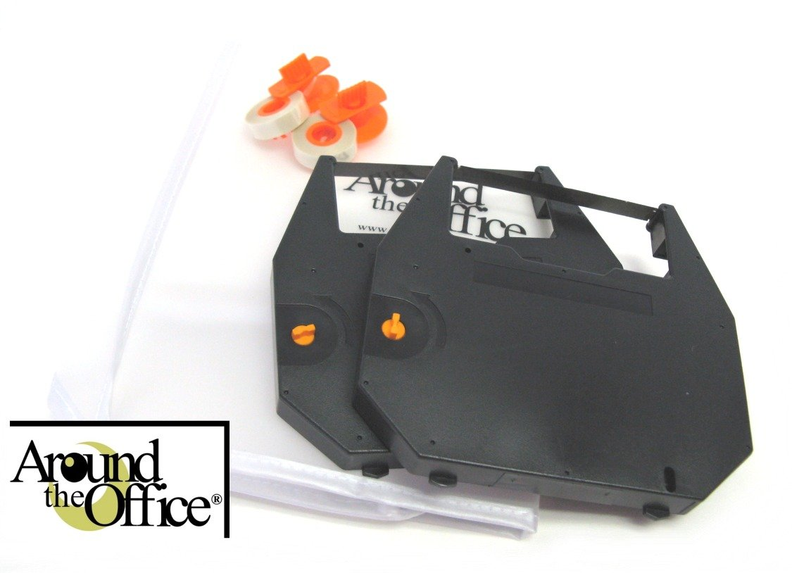 Around The Office Compatible ROYAL Typewriter Ribbon & Correction Tape for ROYAL Scriptor...This Package includes 2 Typewriter Ribbons and 2 Lift Off Tapes