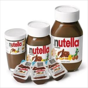 Ferrero Nutella Chocolate Cream in 15g Mini-sachets, 230g, 350g, 600g,  750g, 825g and 3kg Tins