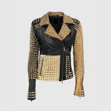 Motor Mode Studded Punk Rock Leather Jacket