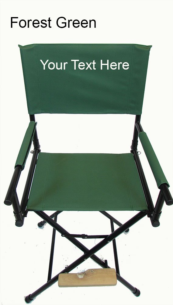 "PERSONALIZED IMPRINTED Tall 30"" Steel Director's Chair by Stadium Chair"
