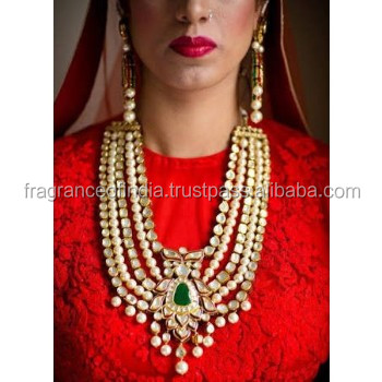 Indian Kundan Bridal Jewelry Set Indian Kundan Gold Tone Bridal