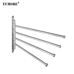 Highest demand hotel bathroom accessories commercial towel rack 4 rods foldable factory price