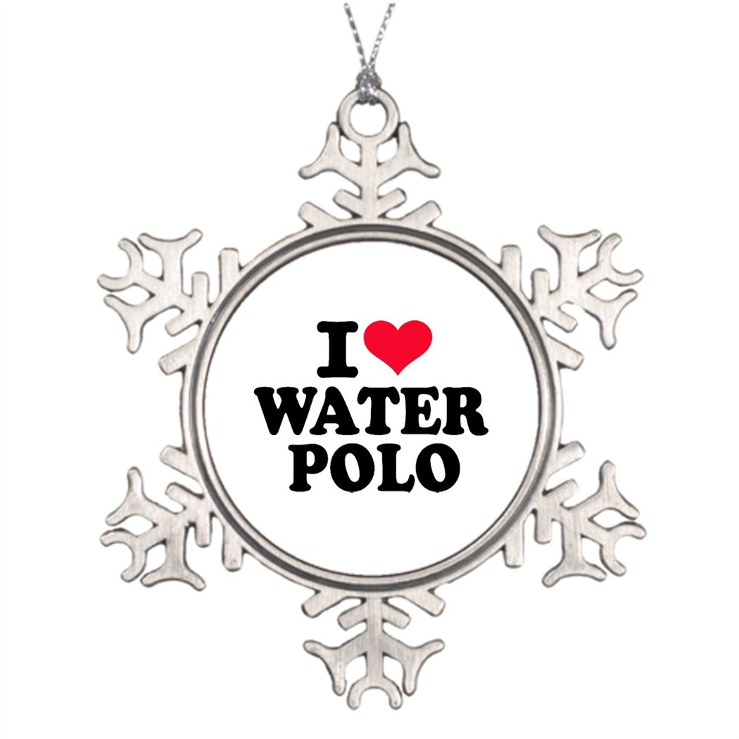 Tee popo Xmas Trees Decorated Iloveshop I love Water Polo Christmas Trees Decoration