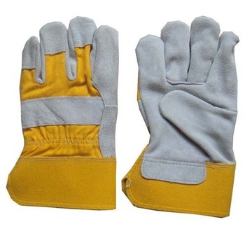 Working labor gloves for construction gloves reasonable price yellow labor working gloves with cotton back knit cuff