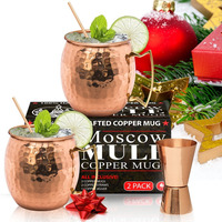 Moscow Mule Hammered Drum Copper Drinking Coffee Beer Cocktail Vodka Mint Julep Ginger Tea Mug Cup