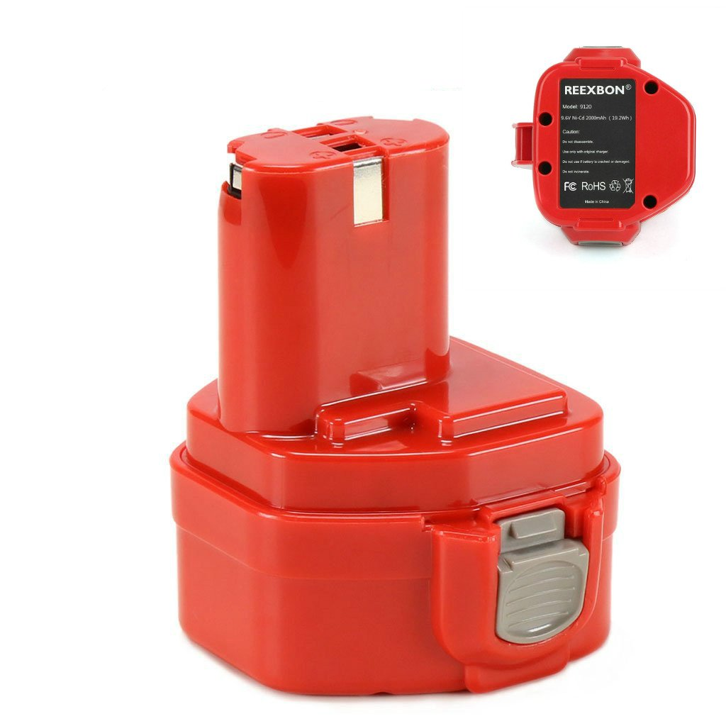 9.6V 2.0Ah Battery Replacement for Makita 9100 9120 9122 192595-8 192596-6 192638-6 193977-7 638344-4-2 Battery, Suit for Makita 9.6 Volt Cordless Tool by REEXBON