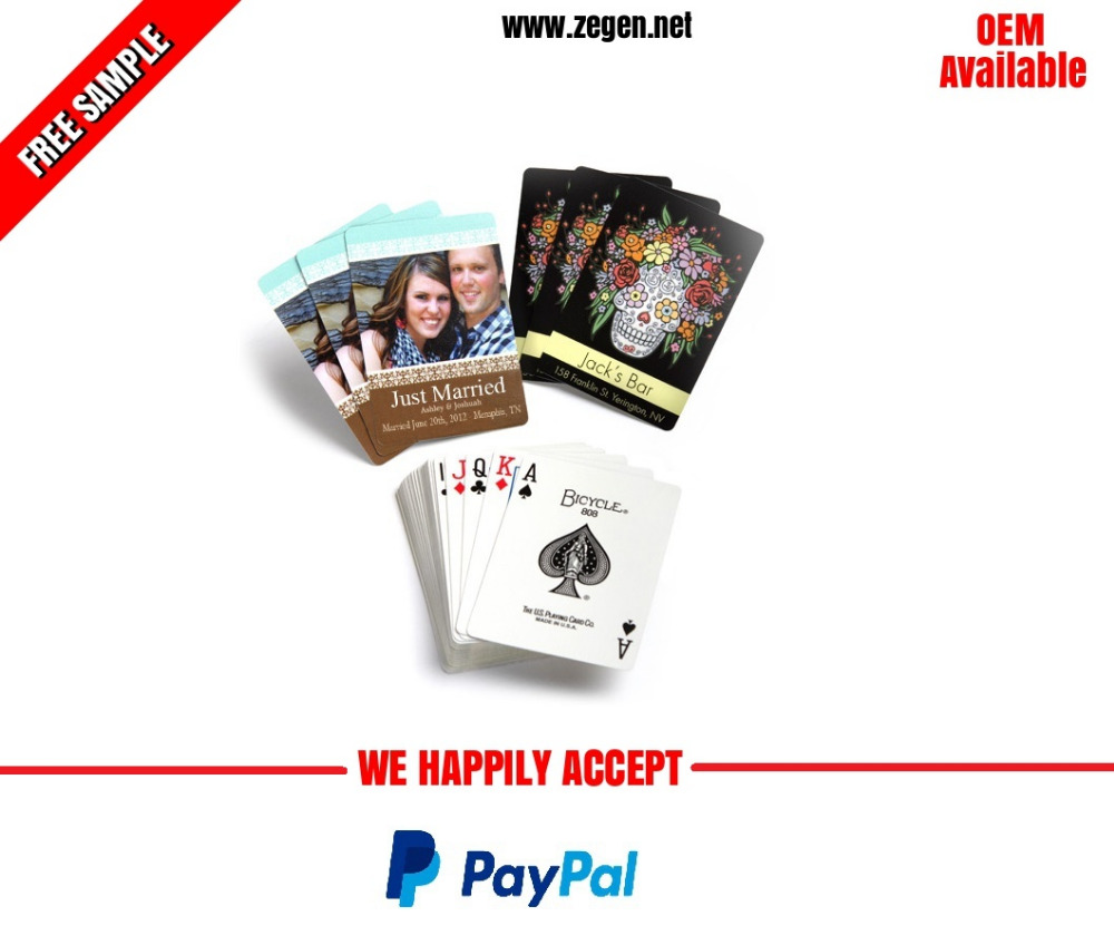 custom picture printed playing card wholesale
