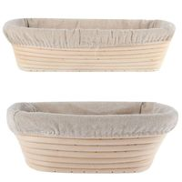 Oval 27x14x H8.5 cm Banneton Bread Basket for 1 Kg dough with liner
