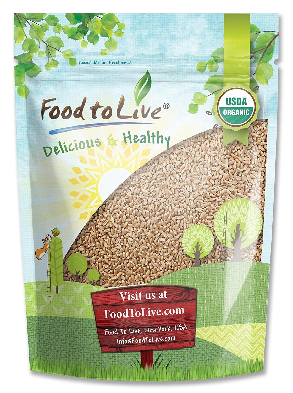 Food to Live ® Organic Wheat Berries (Kosher) (1 Pound)