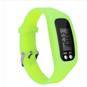 LCD BRACELET WRIST PEDOMETER WATCH SPORT FITNESS CALORIE STEP WALKING COUNTER Running Watches factory supplier