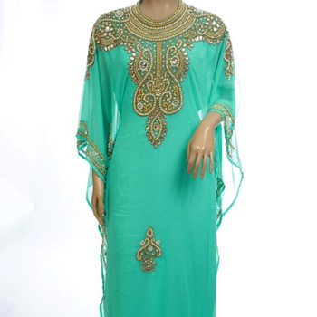 Islamic abaya kaftan beaded work new arrival designer wedding dress for women beaded kaftanKaftan