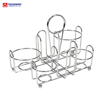 Condiment Caddy Oil And Vinegar Cruet Wire Rack Product On Alibaba