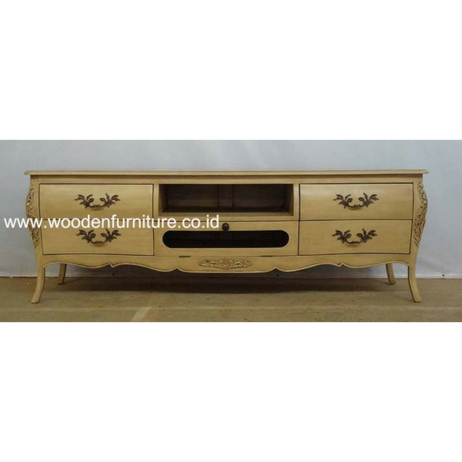 European Style Tv Table Antique Reproduction Console Clic French Stand Mahogany Painted Furniture