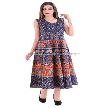 cc2bca738a96 Attire Fashions Cotton Rajasthani Animal Print Short Dress - Buy ...