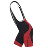 Mens Red & Black Custom Club Order Cycling Bib Shorts Chamois Padded