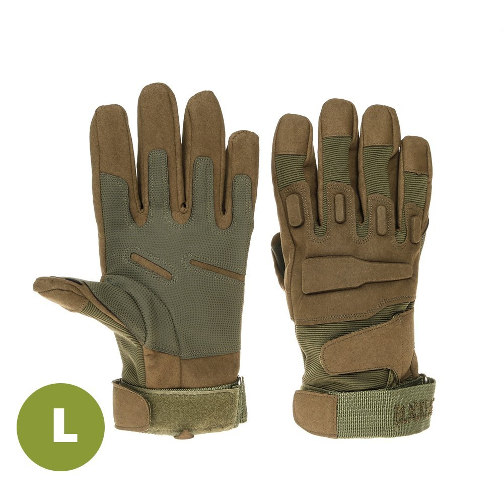 In Hand Protector | Full Finger Tactical Gloves S | Military Grade Microfiber and Nylon Material | Adjustable Padded Wrist Design | Ultimate Hand Protection for Combat Car Motorcycle | Green | 215.6