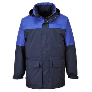 Hi Viz Workwear Men Fleece Lined Jacket/ Cheap Hi Vis Cotton Workwear Jackets With Reflective Tape Wholesale Jackets
