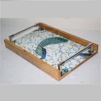 Wooden Printed Bar Serving tray