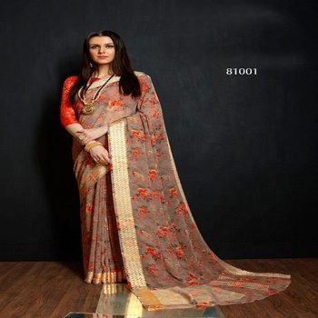 Exclusive Designer georgette saree / wholesale india sarees / wedding wear bridal saree / sari / shari