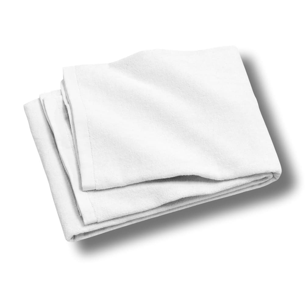 "Custom & Luxurious {30"" x 60"" Inch} 4 Bulk Pack of Large & Thick Soft Summer Beach & Bath Towels Made of Quick-Dry Cotton w/ Basic Standard Light Solid Colored Cabana Hotel Style [White]"