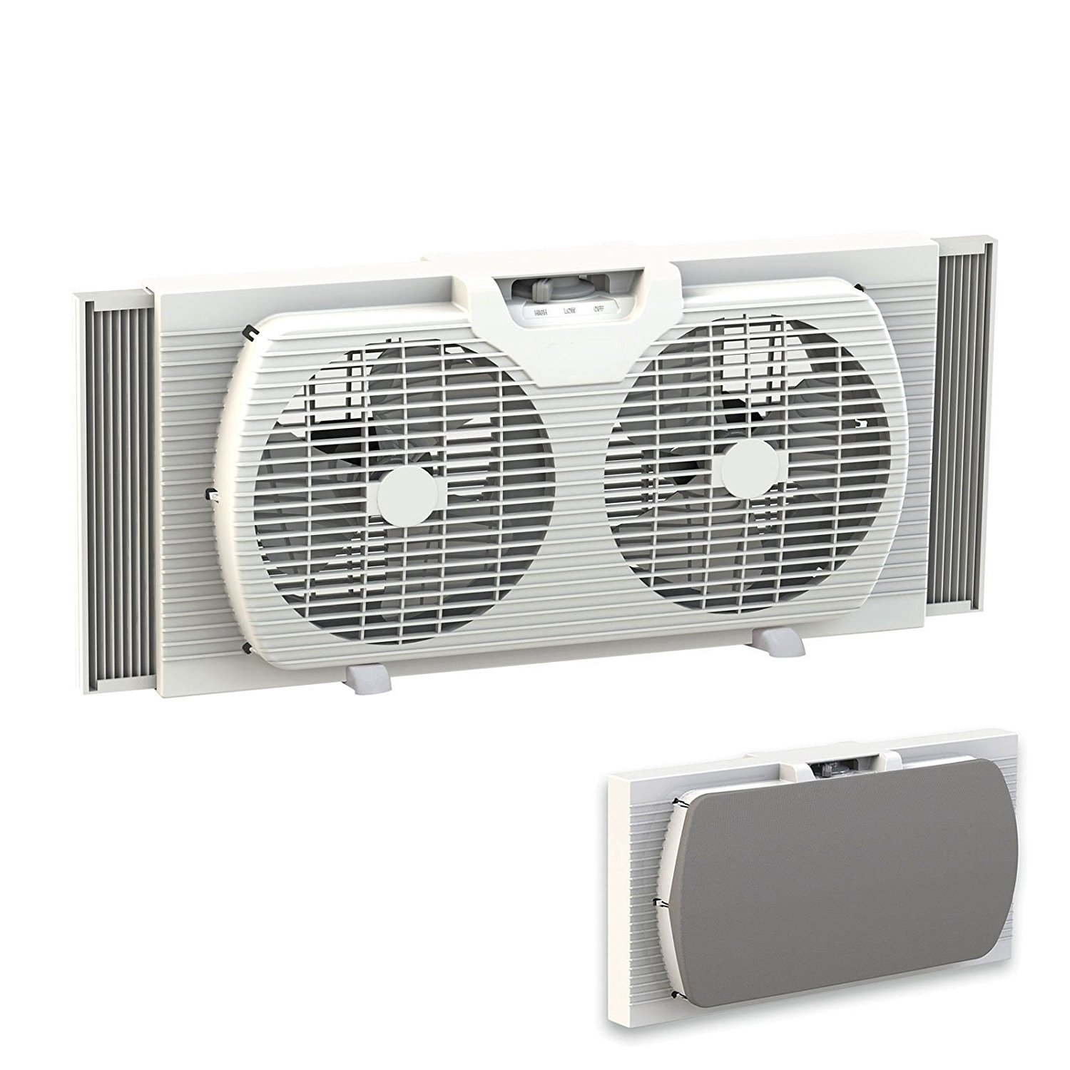 Get Quotations Dual Blade 9 Inch Twin Window Fan With Cover Portable White