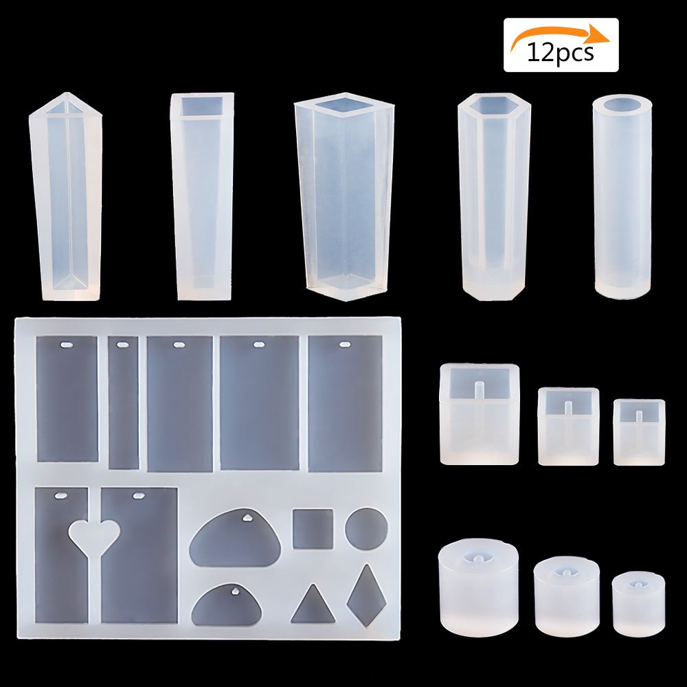 Brodi 1 Pack Resin Jewelry Mold & 5 Styles Pendant Making Silicone Mold & 6 Styles Silicone DIY Bead Mold for DIY Jewelry Craft Making