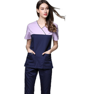 Wholesale Hospital Sexy Nursing Scrubs Uniform Polyester Cotton Scrubs