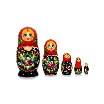 Five piece Vyatskaya Matryoshka Uzor, article C-6 (194) - Souvenir gift