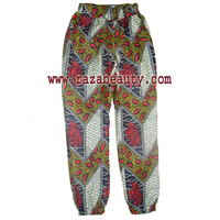 African Wax Fabric Cotton Ladies Pant, Simplecity 1696