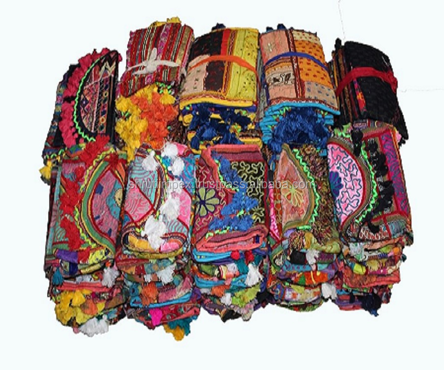 Atacado Lot Senhoras Bolsas Indian Vintage Banjara Clutch Bag