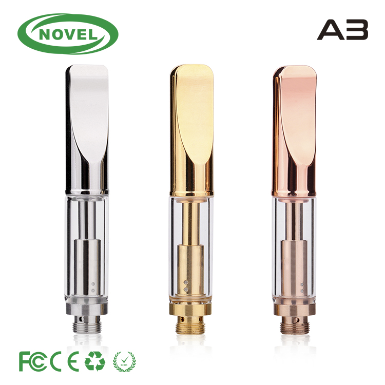 5 kind oil hole size option Metal cbd vape cartridge glass ecig tank 510 empty wick cbd oil glass carts