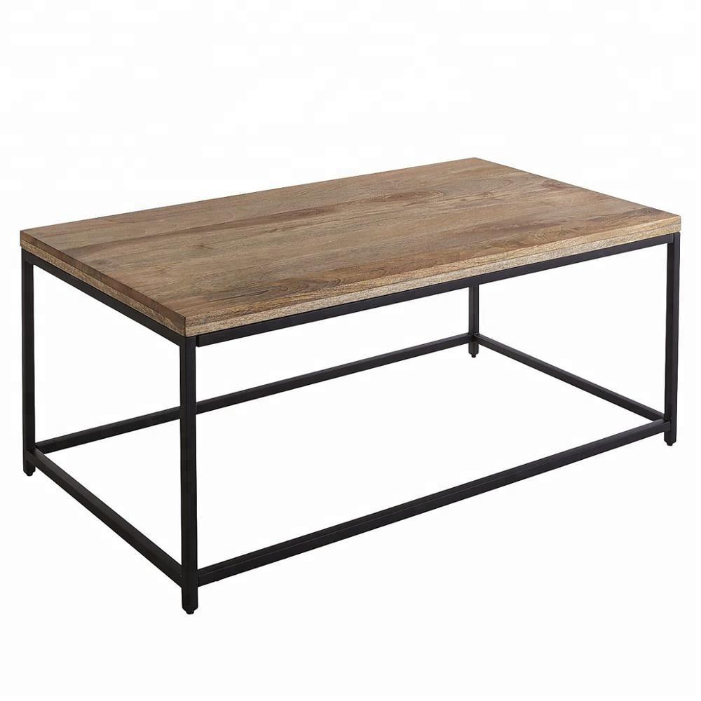 - High Quality Mango Wood & Iron Coffee Table - Buy Wooden Coffee