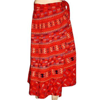 eb6e9b457d Buy Indian Women Block Print Cotton Long Wrap Skirt - Buy Desert ...