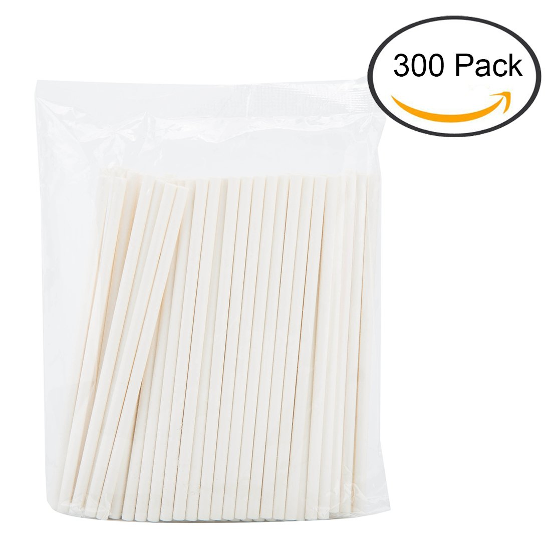 275f0a4c6b4 Get Quotations · Tosnail 4-Inch Lollipop Sticks Cake Pop Sticks - 300 Pack