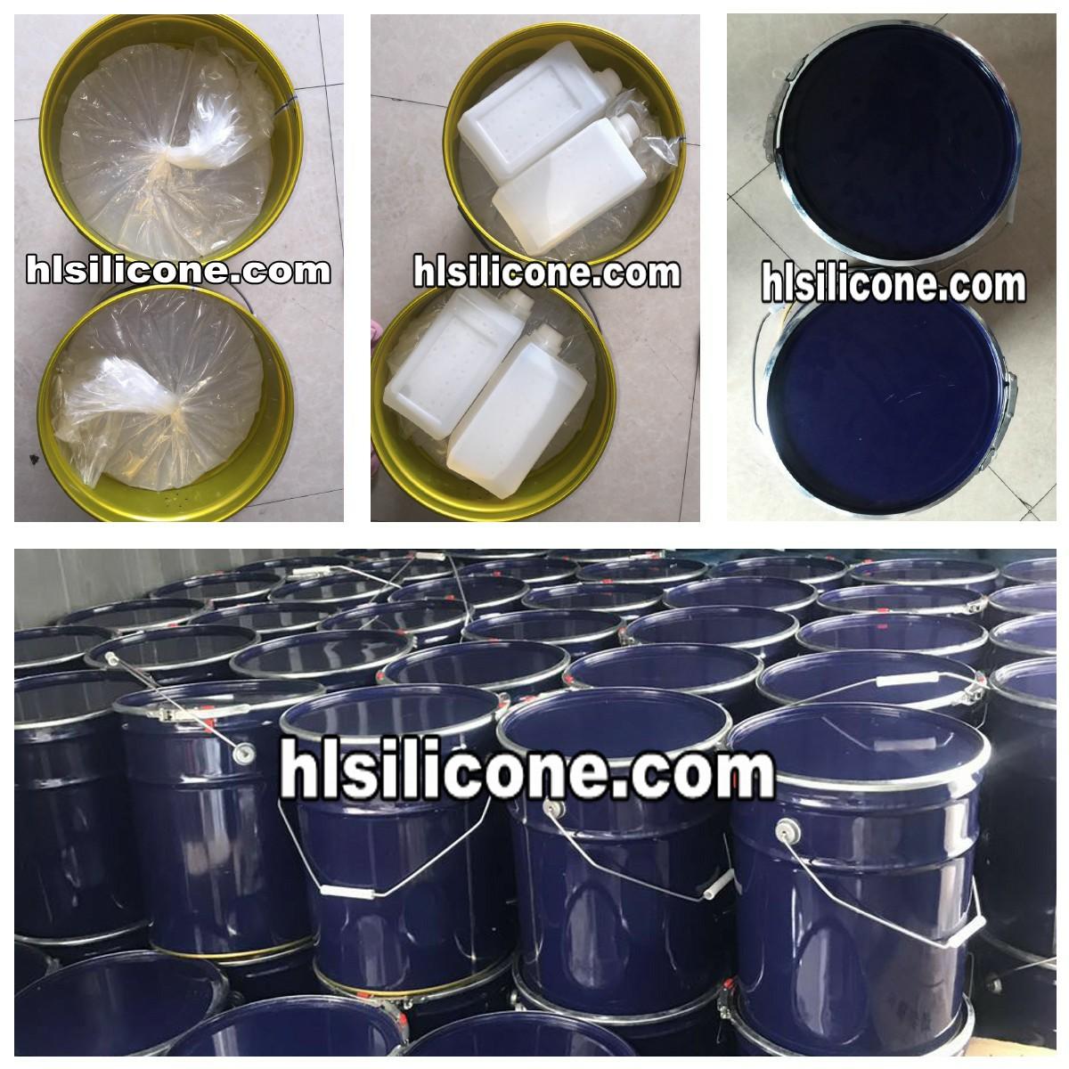 高透明液状シリコーンゴムエンボス加工のため布作る FDA グレード安全接触皮膚 2 コンポーネント siicone ゴム