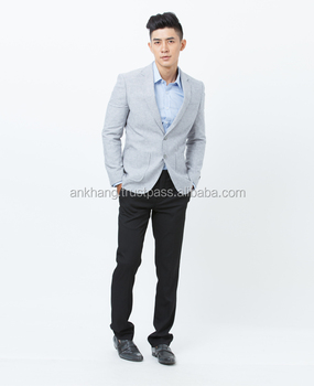 3eda7ff9f9d6a Slim Fit Light Grey Blazer For Men - Buy Mens Slim Fit Blazer,Blazer For  Winter,Mens Stylish Blazer Product on Alibaba.com