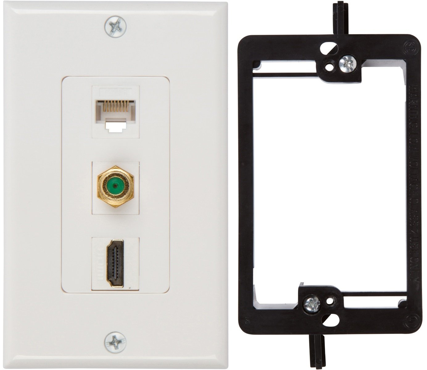 Cheap Hdmi Coax Wall Plate Find Deals On Line Wiring Plates Get Quotations Buyers Point 3ghz Ethernet With Single Gang Low Voltage Mounting Bracket Device