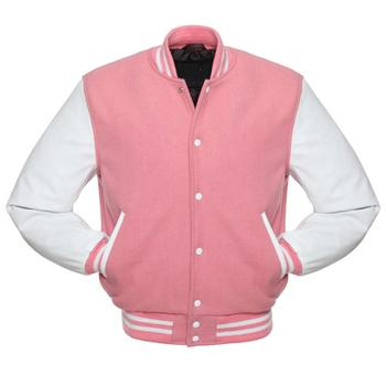 Unisex leather varsity jackets in different colors