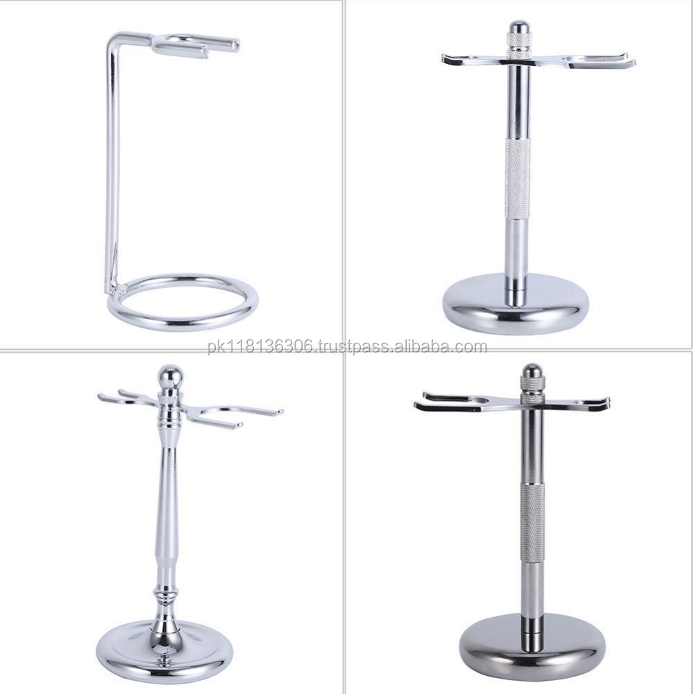 Alloy Removable Shaving Tool Stand Razor Brush Holder Weighted Base Stand