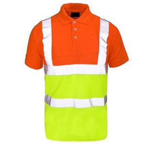 NEW 2018 Forever 2 Tone Hi Viz Collar Safety Work High Visibility Work Wear Polo T-Shirt