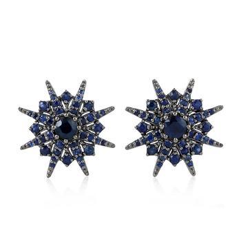Natural Blue Shire 18kt Gold Star Design Stud Earring