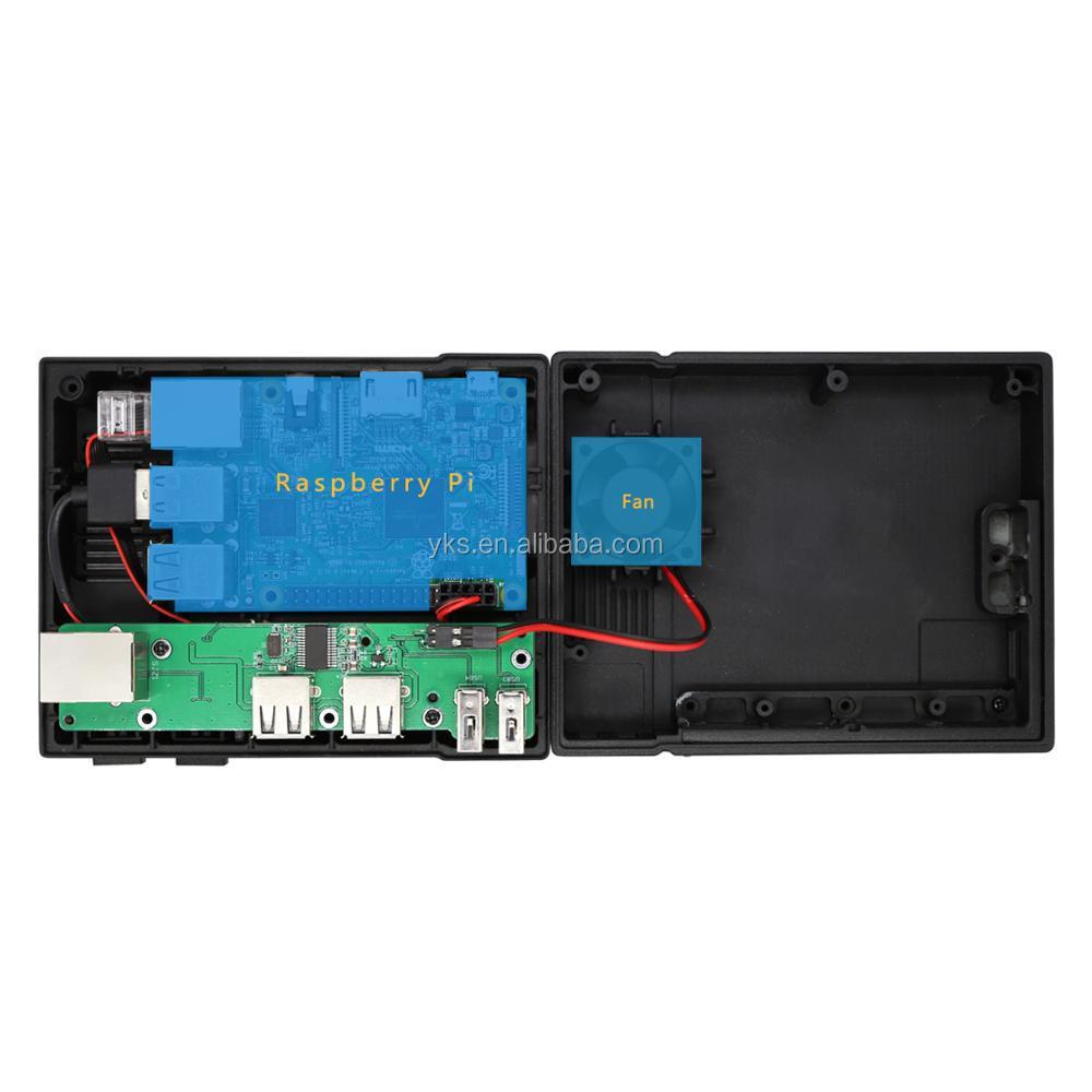Los Perseidas Nespi Caso Vcr Retro Synth Mini Ordenador Caso Con Ventilador  De Refrigeración Para Raspberry Pi 3 2 Y B - Buy Caja Raspberry Pi,Caja