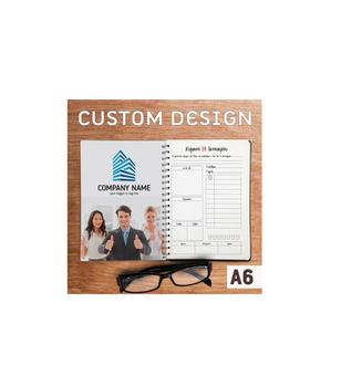 Premium Quality Custom Design Notepad Printing Planner Calendar - Spiral Bound - Matte or Gloss Laminate - Size A5