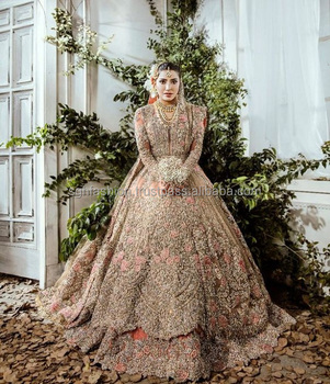 Heavy Beaded Pakistani Wedding Bridal Lehenga Dresses , Buy Heavy Beaded  Pakistani Wedding Bridal Lehenga Dresses 2019,Latest Pakistani Wedding  Bridal