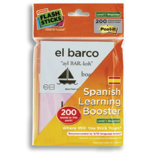 FlashSticks® Spanish Flash Cards for Beginners | Best Way to Learn to Speak Spanish | No Language Courses Needed | 200 Basic Vocabulary Study Cards Make Learning a Game | Free Online App Helps With Pronunciation | Perfect For Adults & Kids