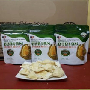 Healthy Vacuum Dried Snack Musang King Durian Chips in Stand Up Zipper Bag Halal Certified