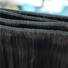 Wholesale price direct factory !! Super double drawn natural straight human weft hair silky full lengths