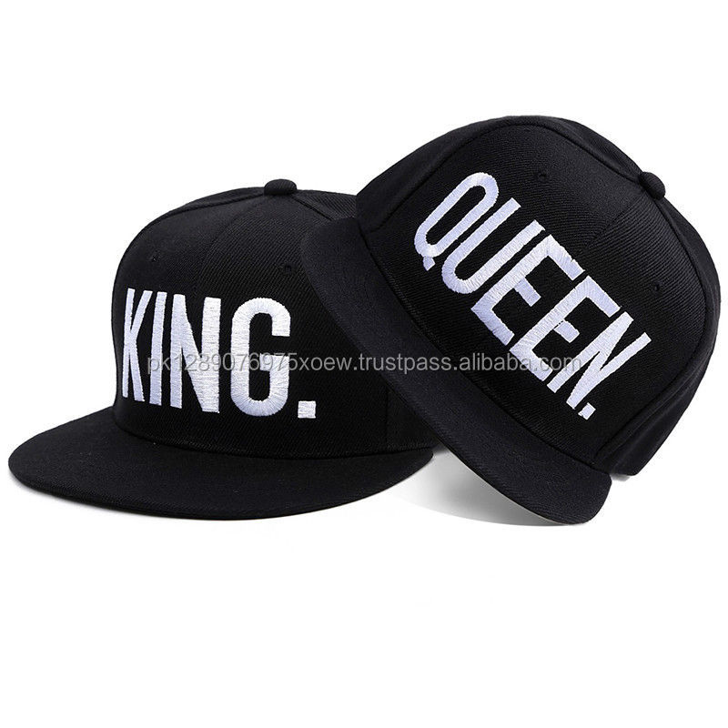9530996d877 King And Queen Baseball Caps Adjustable Couple Cap Lovers Snapback Hats
