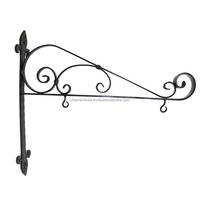 Wrought Iron Store Sign Bracket Holder Wall Mount