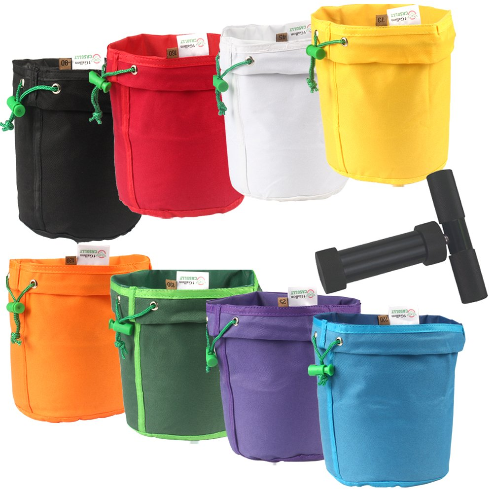 Casolly 1 Gallon 8 Bags Herbal Ice Bubble Hash Bag Essence Extractor Kit-Free Carrying Bag & Pressing Screen